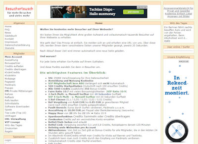 Screenshot https://trafficbooster24.de/beex/index.php?ref=vertrieb